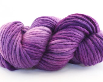 Hand Dyed Single Ply Wool - Super Bulky - Orchid