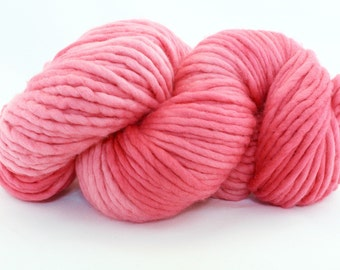 Hand Dyed Single Ply Wool - Super Bulky - Bubblegum