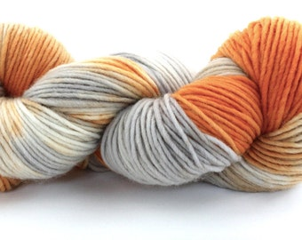 Single Ply Wool - Heavy Worsted - Smoke & Fire