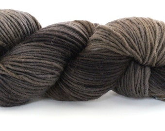 Single Ply Wool - Heavy Worsted - Charcoal
