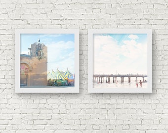 "Photography Set - Two prints // Brooklyn Boardwalk Photography // Brooklyn Summer // Coney Island // ""The Summers we leave behind"""