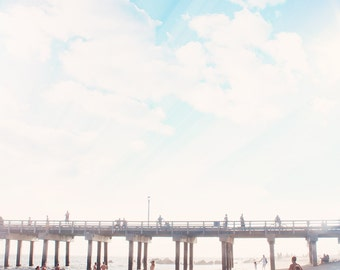"""Landscape Photography // Beach Photography // Seascape // Coney Island Pier // Modern Home Decor - """"The Summers we leave behind - Pier"""""""