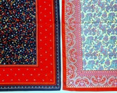 Vintage red & paisley Scarves • 2 count • 30 1/2 inches square
