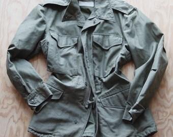 Vintage M*A*S*H Olive Drab 107 U.S. Army M51 Post Korean Cold War Field Coat Jacket