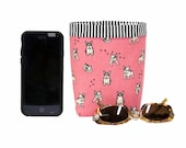 CAR CELLPHONE CADDY, Pink French Bulldogs, Sunglasses Case, Cell Phone Holder, Mobile Accessories, Golf Cart Bag, Smartphone Case, Pink Car