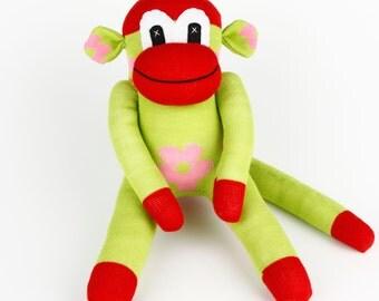 Christmas Gift Handmade Sock Monkey Stuffed Animal Doll Baby Toys Birthday gift