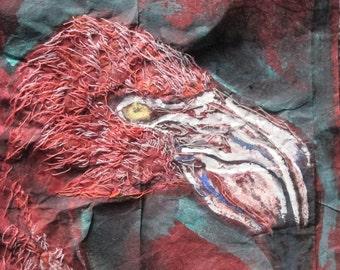 Flamingo Mixed Media Artwork
