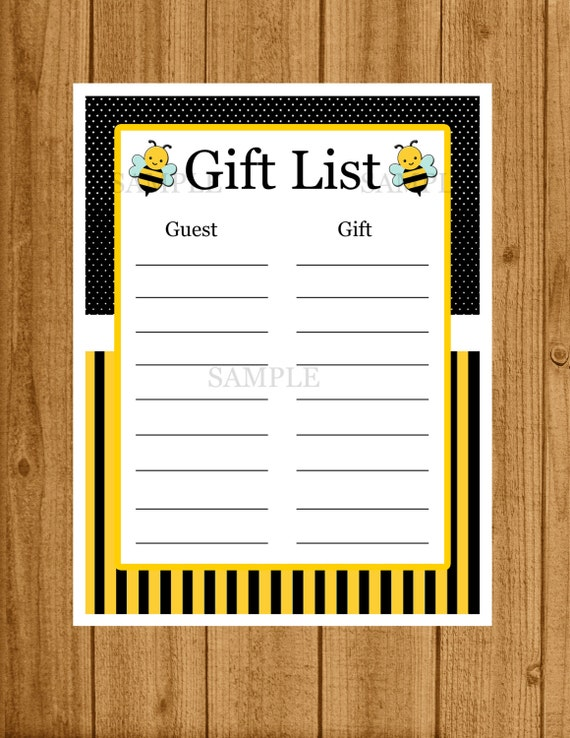 bee baby shower bumble bee gift list birthday gift list baby shower