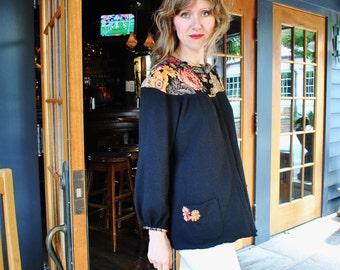SALE/ Olga -Wool cardigan/ one of a kind Cardigan/ Hand made designer clothing/ Size Small-Medium
