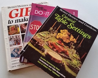 3 Vintage Books Bundle: Gifts to Make Yourself, Do It Yourself, Creative Table Settings