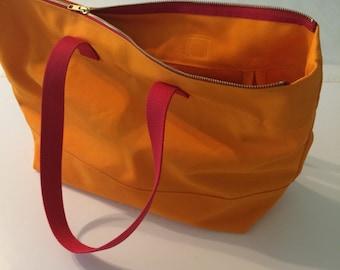 Canvas Tote Zippered w/Webbing Handles, cotton tote bag, vegan zip tote, shoulder canvas bag, zippered bag, zippered tote, canvas tote bag