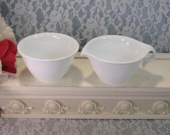 Vintage Corelle by Corning Ware Winter Frost White Cream and Sugar Set, Glass Pyroceram Dinnerware, 1970's Mid Century, Vintage Kitchen