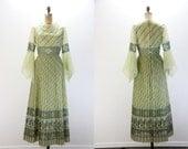 Vintage Dress - Alfred Shaheen - Fair Maiden Maxi Dress - 1960s Shaheen