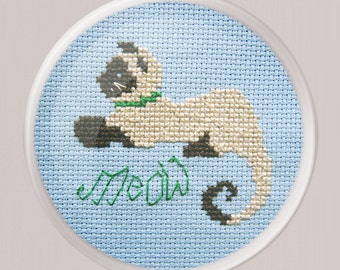 Daisy the Cat Cross Stitch- Cute Cross Stitch- Instant Download