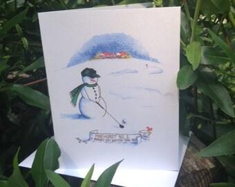Pinehurst No. 2 Snowman Note Cards