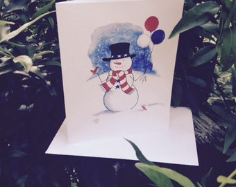 Red White & Blue Too Note Cards
