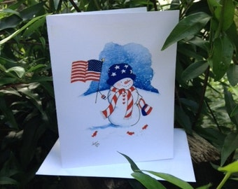 Red White & Blue Note Cards