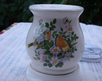 Robins in the Apple Blossoms Electric Tart Burner/Warmer