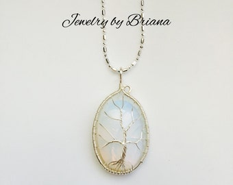 Small Opalite Tree of Life Necklace