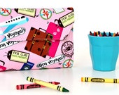 Bon Voyage Deluxe Crayon Wallet, Ready to ship, Crayon organizer, Children's coloring toy, Art wallet, Holiday travel toy, Crayon case