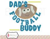Football applique design. Cute football embroidery design, 3 sizes. Fun sport applique. Dads applique. Father and son applique.