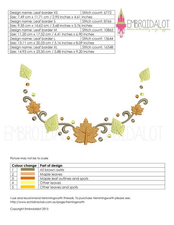 Fall monogram frame embroidery design thanksgiving