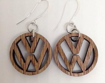 Wooden VW earrings