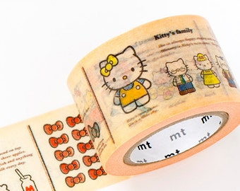 MT ex 2014 Encyclopedia Japanese Washi Tape / Hello Kitty 30mm wide for gift wrapping, party favor