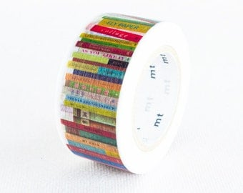 mt ex 2015 New Japanese Washi Masking Tape - Used to be Limited Edition - Books 23mm wide