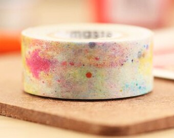 Mark's Japanese Washi Masking Tape - White Cosmic 15mm wide for packaging, party deco, crafting