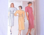 Futuristic 60s Style Dress, 80s Does Retro Futurism, Kathryn Conover, Butterick 3159 Size 6-8-10