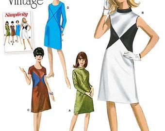 Vintage Dress Pattern, Straight Dress Pattern, Simplicity Sewing Pattern 1012