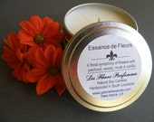 Essance de Fleurs Soy Candle - 6 Oz Travel Tin - Floral