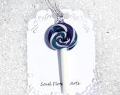 Mini Glass Lollipop pendant/ ornament - Grape