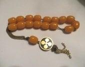 vintage Genuine Butterscotch Amber Worry Rosary  prayer  Beads   EPIROTIKI LINES