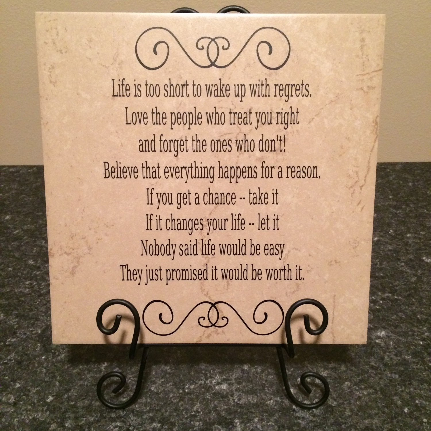 Ceramic Tiles With Sayings : Ceramic tile sayings quotes life is too short