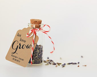 2 Dollar Shipping - Let Love Grow - favor tags