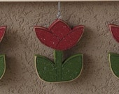 MONTHLY WELCOME TULIPS Decorations (no sign included) for wall and home decor