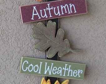 Autumn Thoughts, leaves, fall decor, , wall, door, office, and home decor
