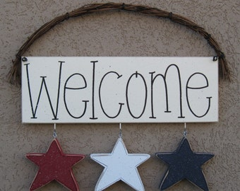 Welcome sign (STARS) for wall and home decor