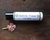 Jasmine Flower Lip Balm -  Natural Lip Balm, Herbal Lip Balm, Stocking Stuffer, Small Gift, Skin Care, Lip Care, Chapped Lip Support