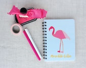Pink Flamingo Journal | Color Block | Personalized Notebook | Flamingos for a Cure | Breast Cancer Awareness