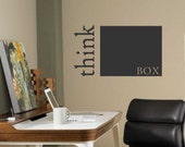 Think Outside the Box, Vinyl Wall Lettering, Vinyl Wall Decals, Vinyl Decals, Vinyl Lettering, Wall Decals, Motivate Employees, Office Decal