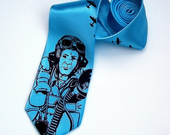 Men's Necktie - Bomber Command Tie - Premium Quality Microfiber Tie - Gift wrapped - Choose color and quantity