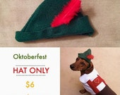Hans Oktoberfest Lederhosen Dog Costume--HAT ONLY