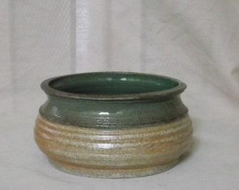 Green and Tan Bowl