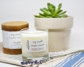 Eucalyptus Peppermint Certified Essential Oil Aromatherapy Soy Candle in Tumbler Glass Jar with Gift Box
