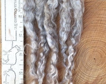 Apricot Kid Mohair Locks / Long Mohair Doll Hair / First Clip / Raw Mohair / Long Locks