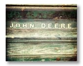 Vintage John Deere Print, Modern Rustic Decor, Old Tractor Photograph, Rustic Farmhouse Decor Rustic Farm Equipment Photo Rustic Office 8x10