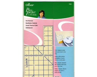 Clover Press Perfect ~ HOT HEMMER Guide ~ Fold & Press Fabric in One Step!